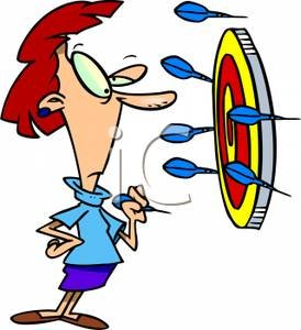 Cartoon_Woman_Playing_Darts_Royalty_Free_Clipart_Picture