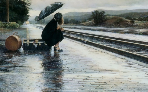 waiting-for-train-in-rain-2560x1600